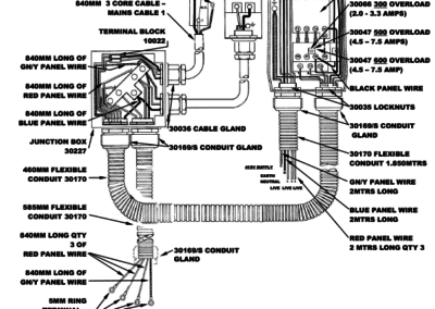BM+FS Series 300 - 500 - 600 Wiring Detail 3 Phase