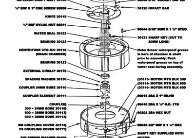 BM+FS Series 300 - 500 Motor Assy