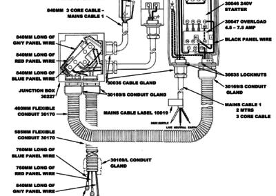 BM+FS Series 300 Wiring Detail 1 Phase