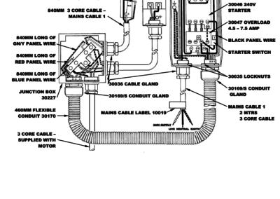 BM+FS Series 75 - 150 Wiring Detail 1 Phase