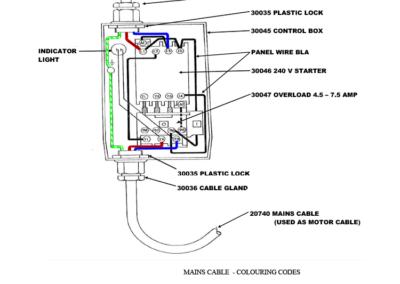 SM 75 1HP 1ph (HVD) - wiring detail